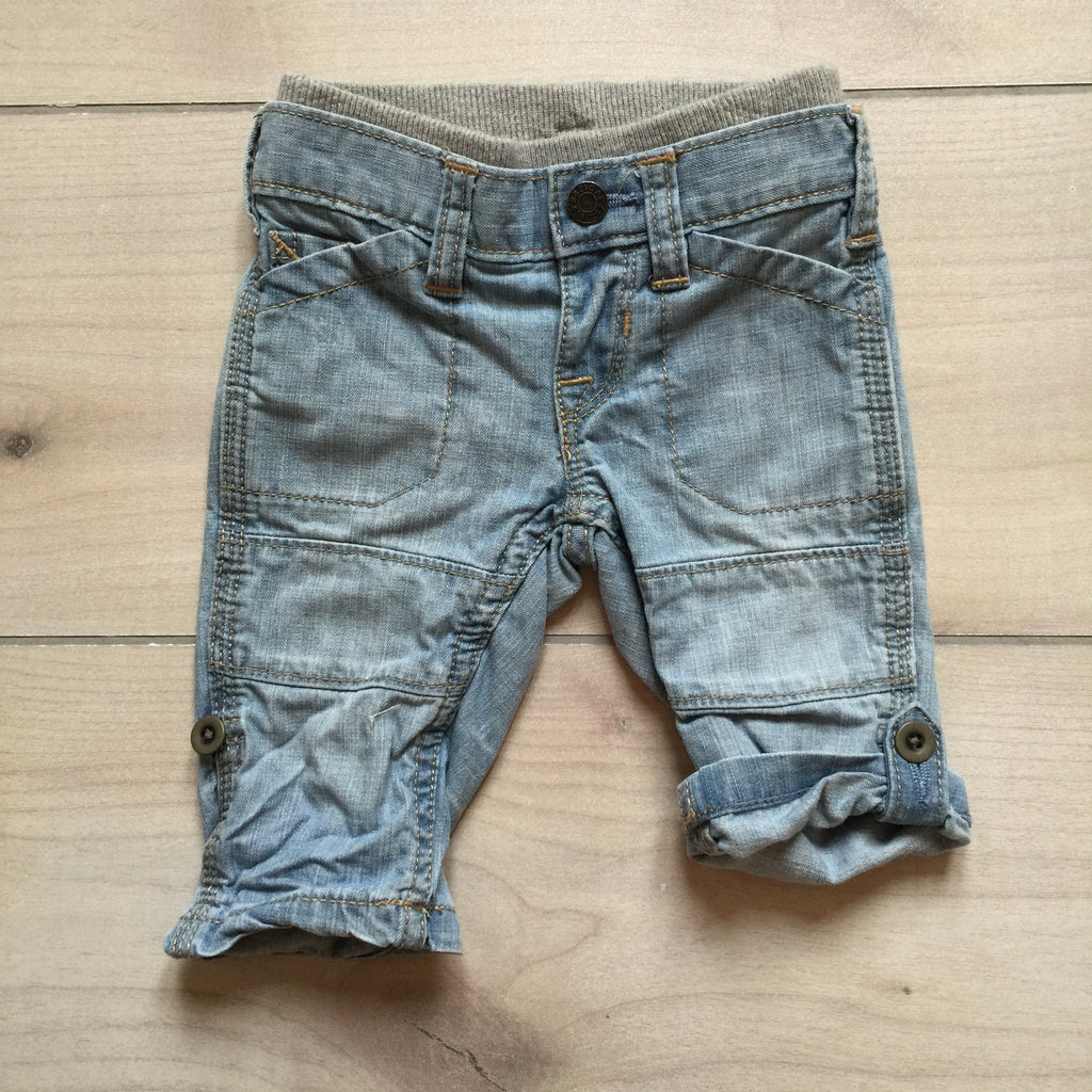 Baby Gap 1969 Light Chambray Denim Roll-Up Jean