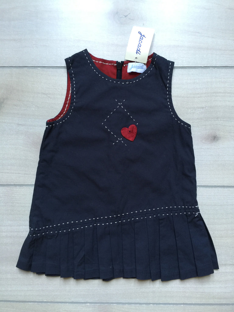 NEW Jacadi Heart Pleated Pinnie