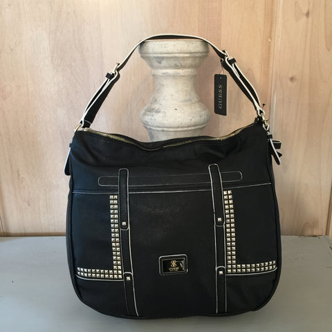 NEW Guess Black Studded Road Trip Handbag