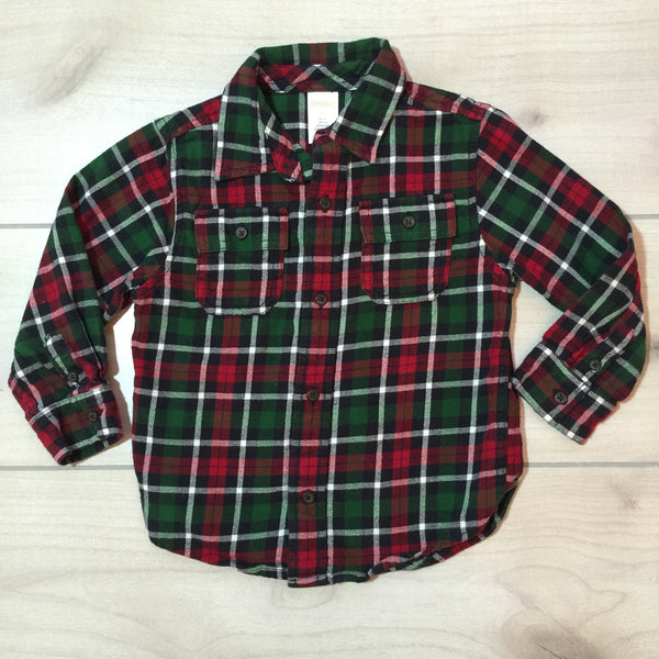 Gymboree Red & Green Flannel Shirt