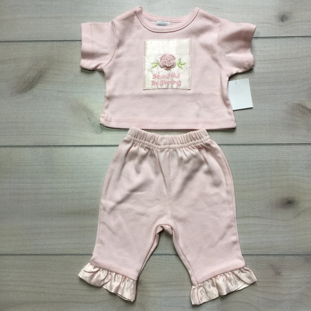 NEW Giggle Moon 2 Piece Pink Outfit