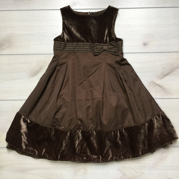 Gymboree Chocolate Brown Velvet Dress