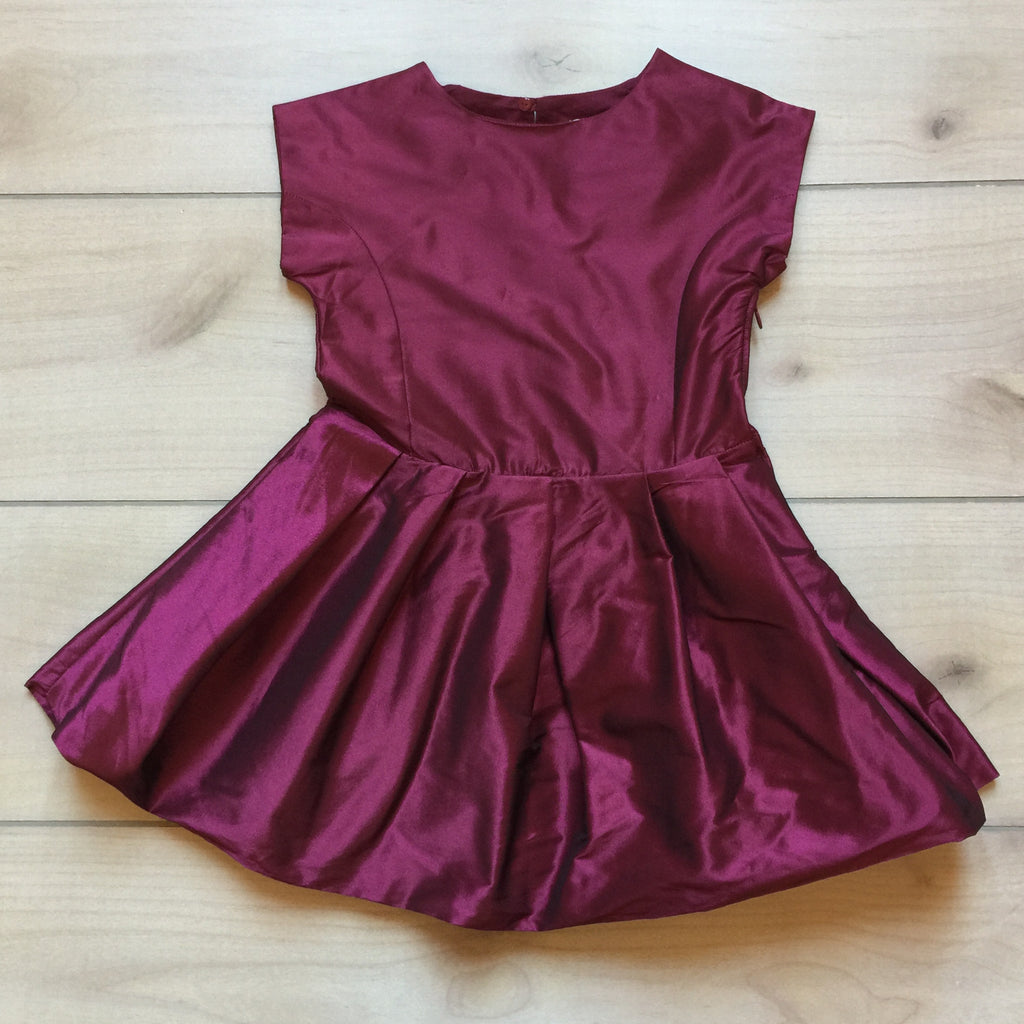 Jacadi Paris Burgundy Party Dress