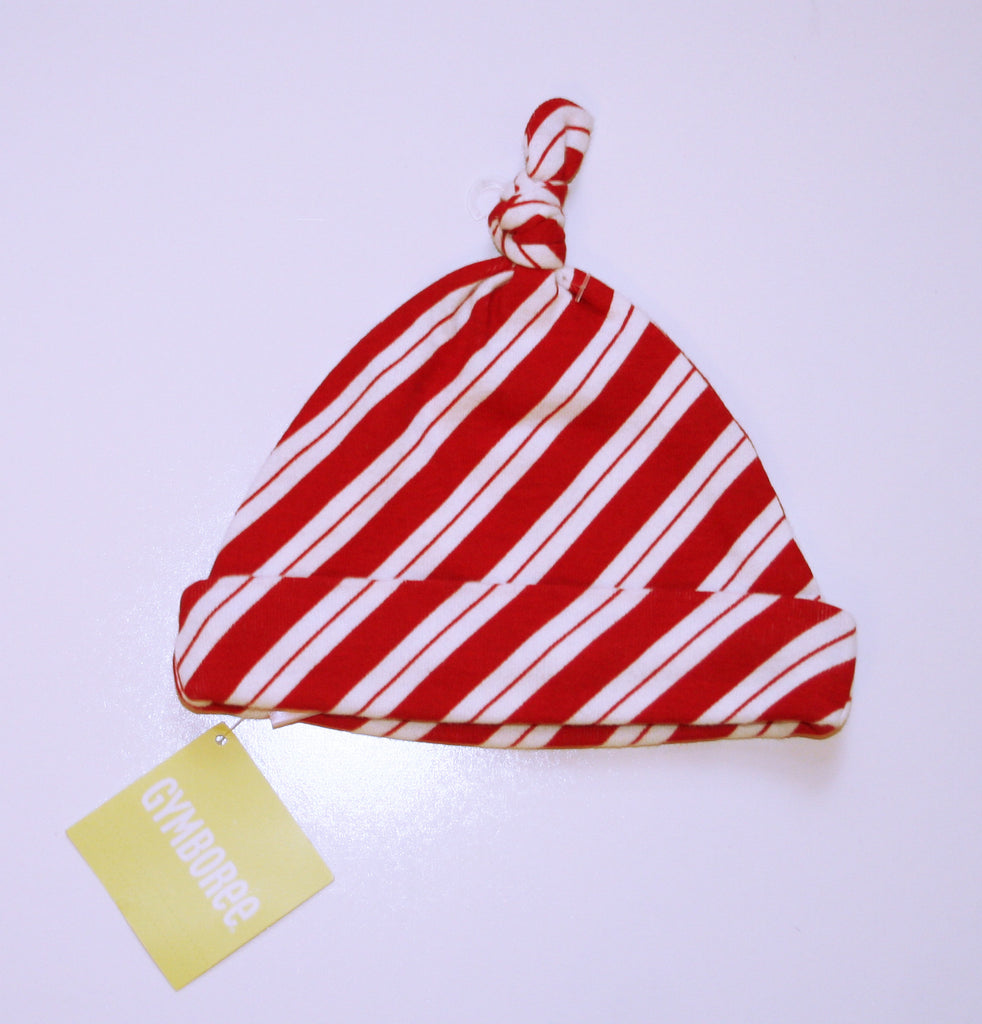 Gymboree Red & White Striped Holiday Hat NEW