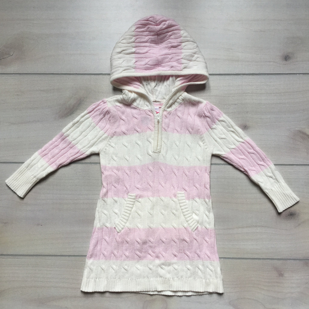 Old Navy Pink & White Striped Sweater Dress