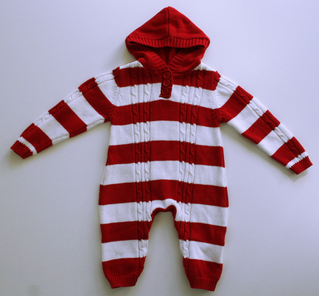 Mud Pie Striped Sweater Holiday Romper