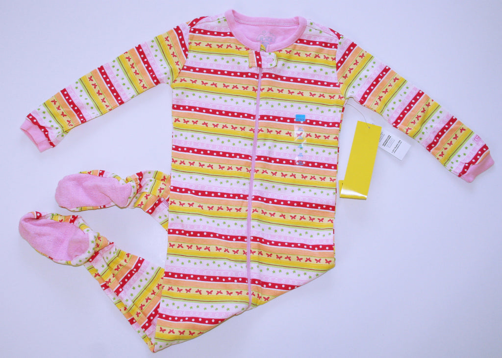 Children's Place Butterfly Zipper Footed Sleeper NEW