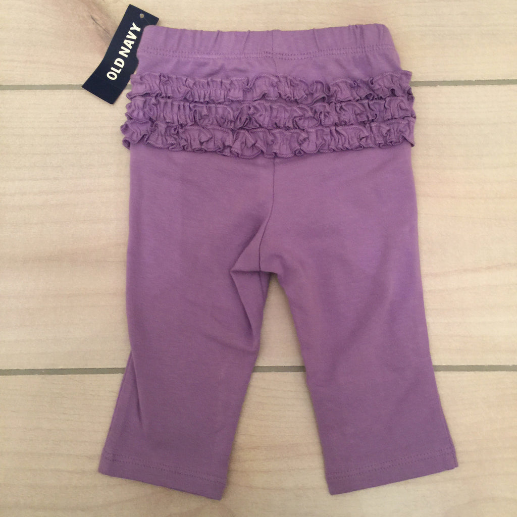 NEW Old Navy Purple Ruffle Legging