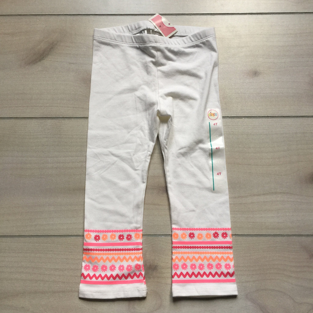 NEW Circo White Cotton Aztec Print Leggings
