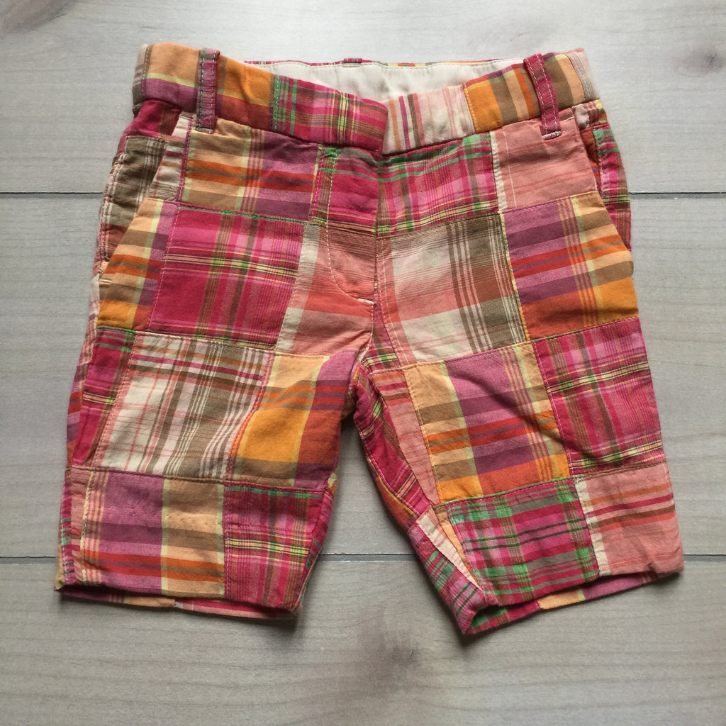 NEW Crewcuts Pink Madras Shorts