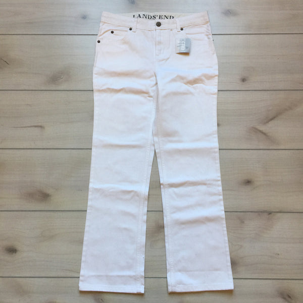 NEW Land's End White Denim Jeans