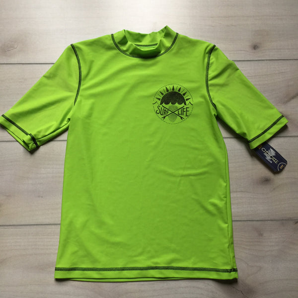 NEW Cherokee Lime Green Swim Shirt Rashguard