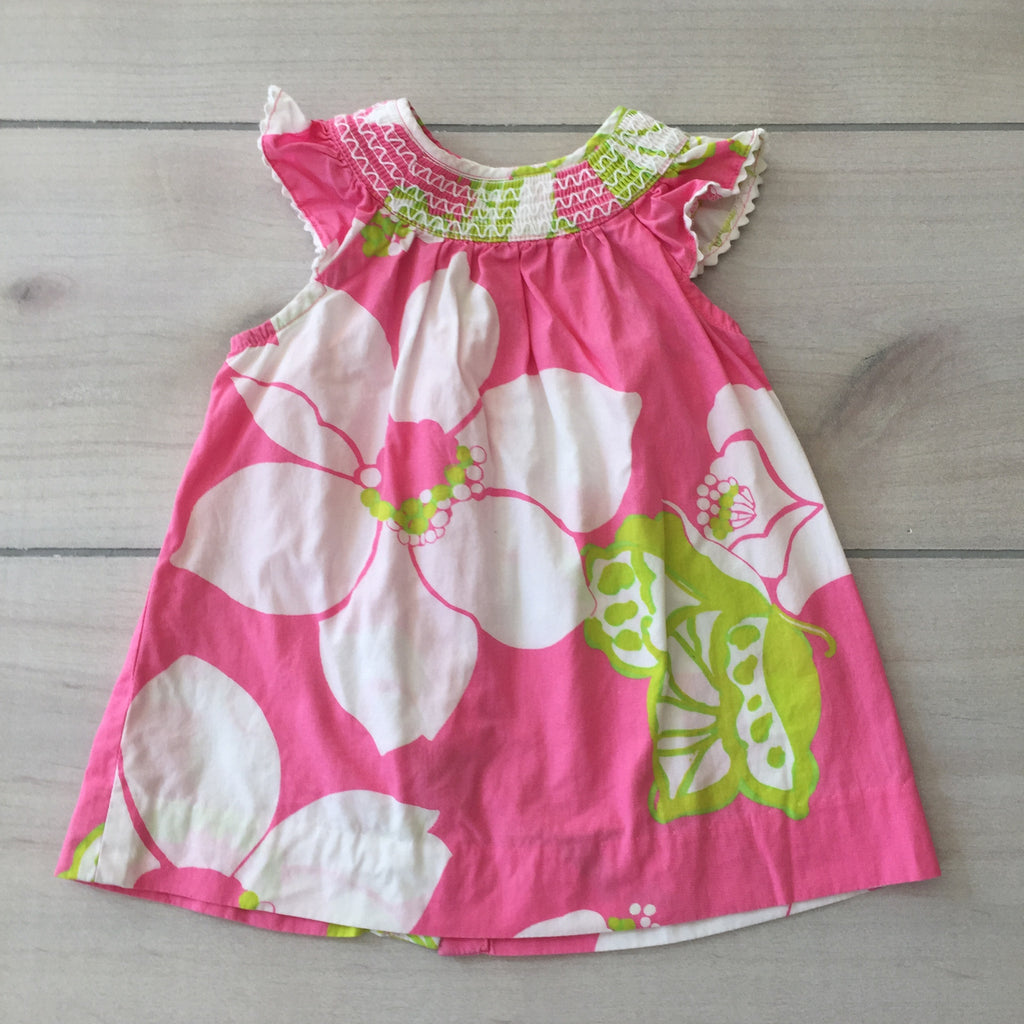Lilly Pulitzer Pink & Green Floral Dress