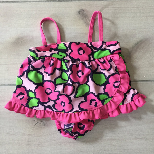 Koala Kids Pink Floral One-Piece Swimsuit