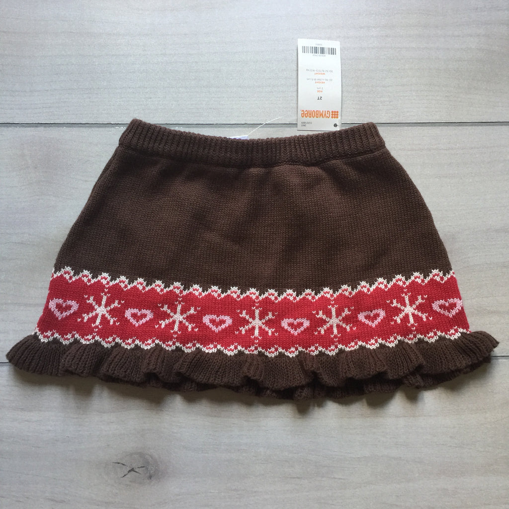 NEW Gymboree Brown Knit Holiday Sweater Skirt