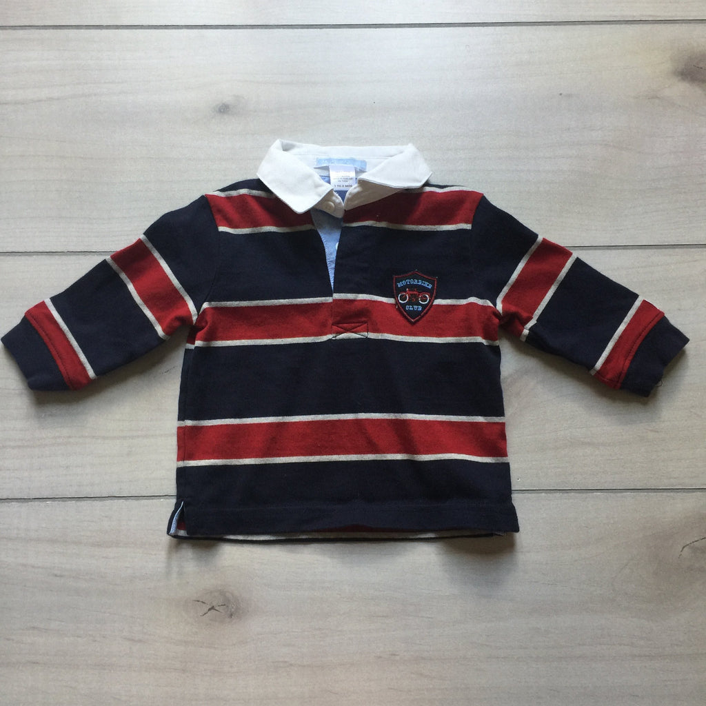 Janie & Jack Rugby Elbow Patch Polo Shirt