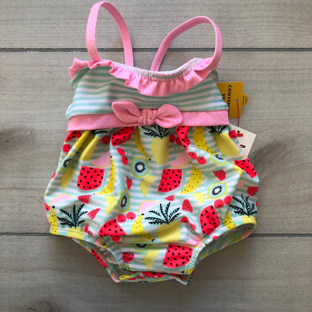 NEW Cat & Jack Fruit Pattern Swimsuit