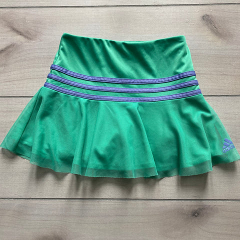 Adidas Green Mesh Bottom Athletic Skort
