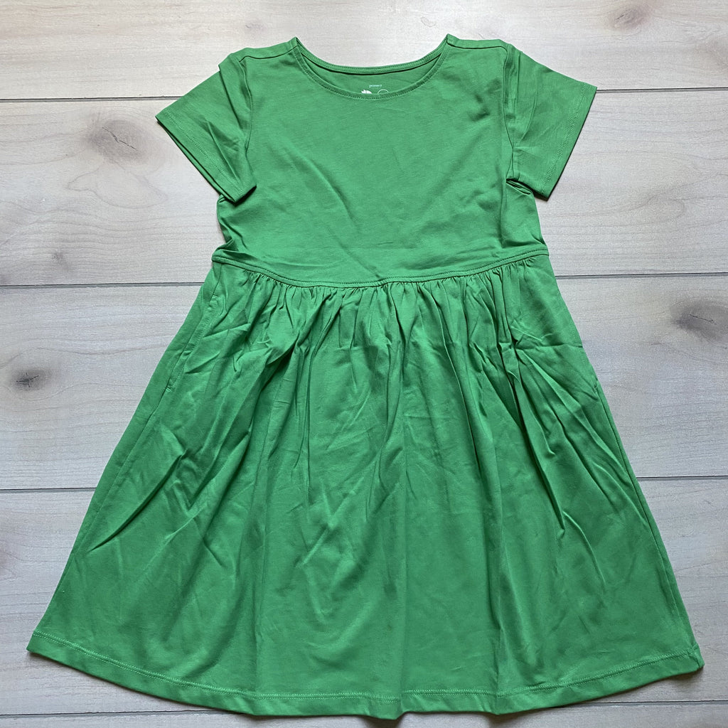 NEW Primary Green Apple Cotton Short Sleeve Pocket Dress - Sweet Pea & Teddy