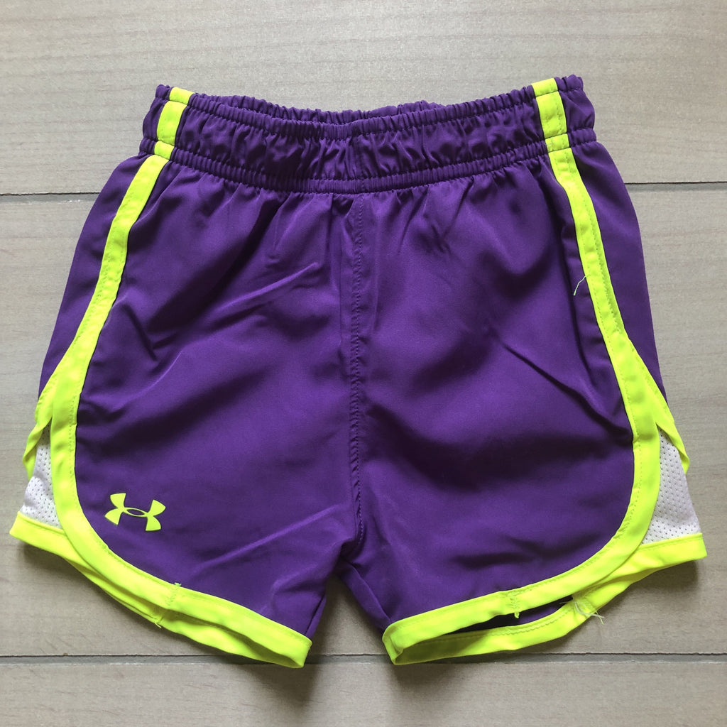 Under Armour Purple & Yellow Athletic Shorts - Sweet Pea & Teddy