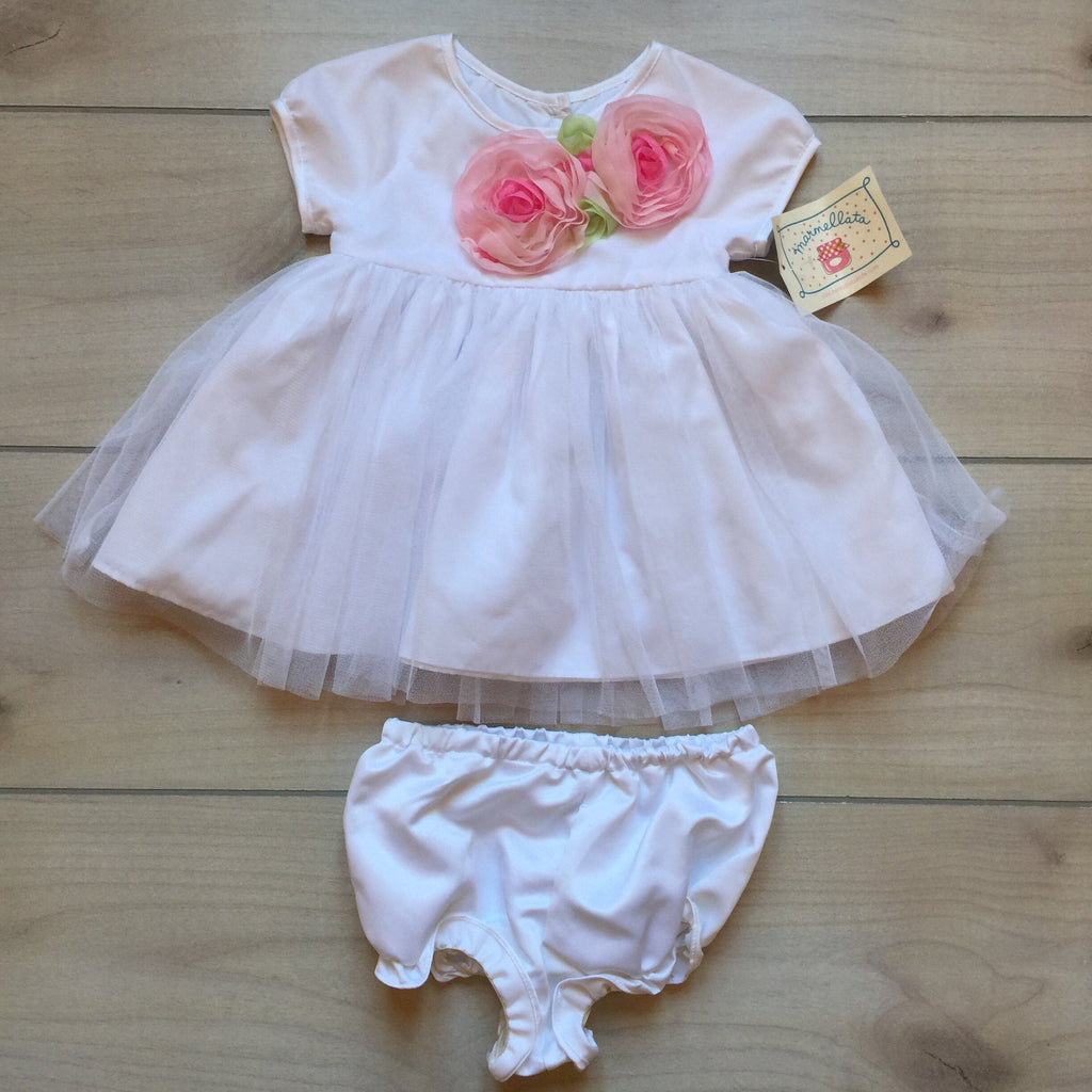 NEW Marmellata White Fancy Dress & Bloomer