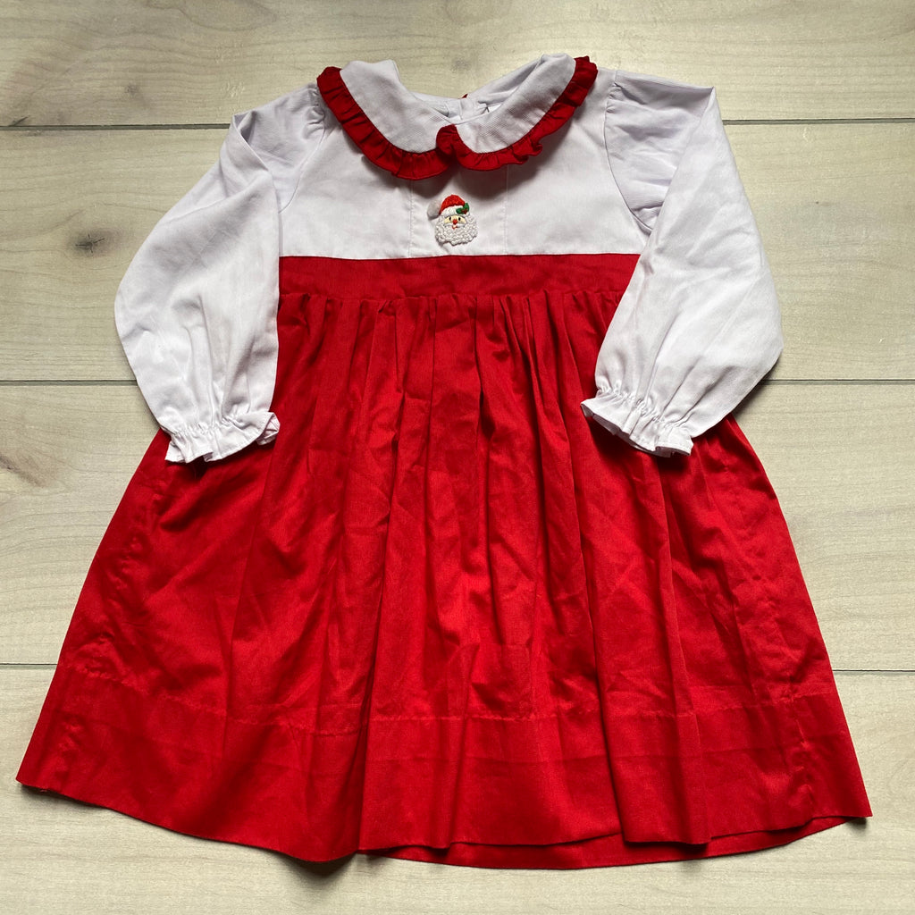 Babeeni Red & White Santa Long Sleeve Cotton Dress