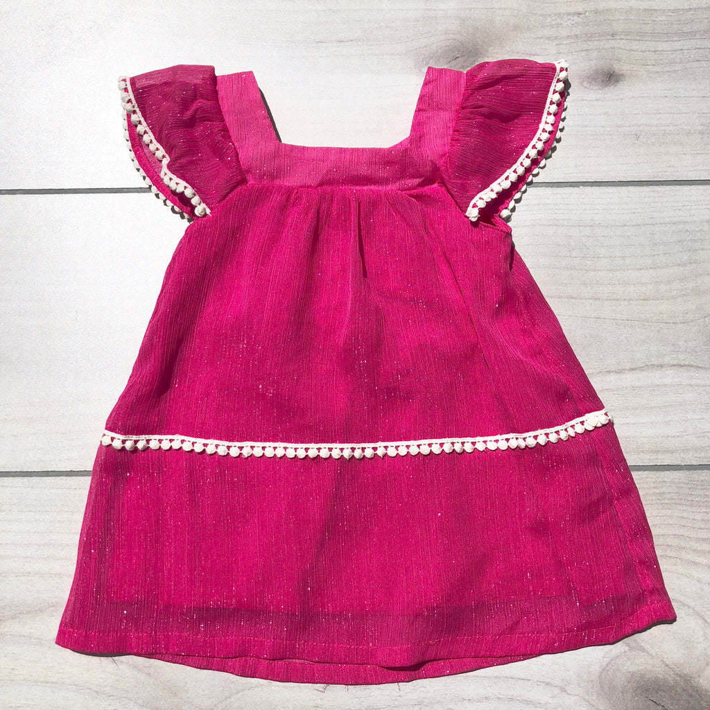 Little Maven Pink Shimmery Dress