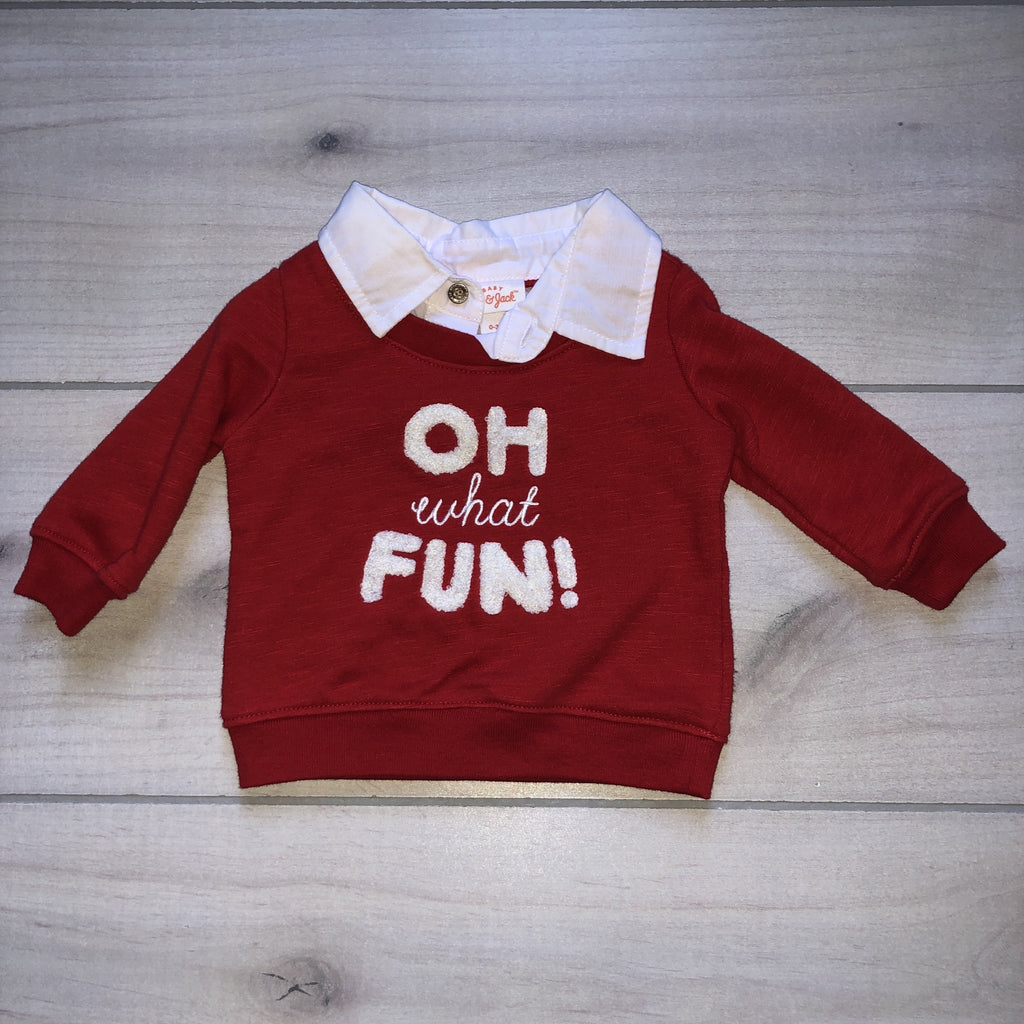 NEW Cat & Jack Oh What Fun Holiday Sweatshirt - Sweet Pea & Teddy