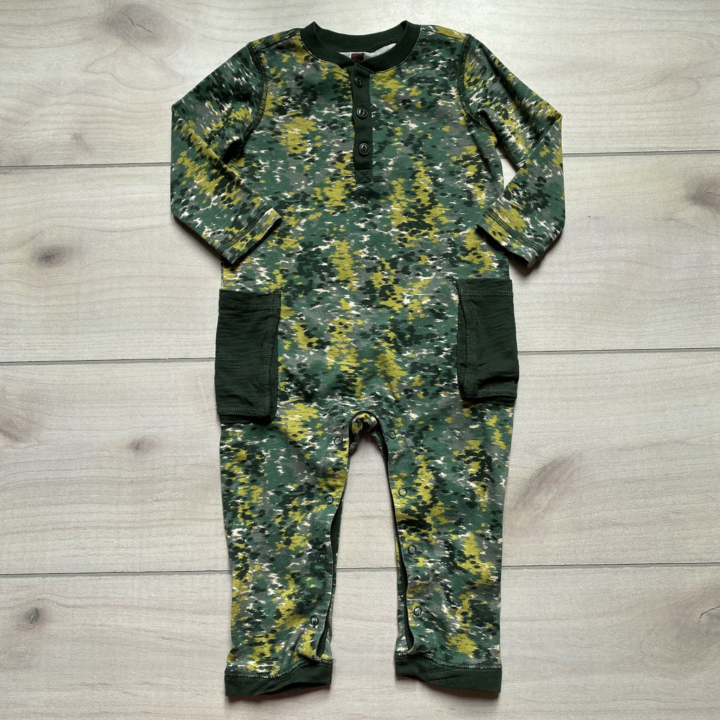 Tea Collection Camo Colored Romper - Sweet Pea & Teddy
