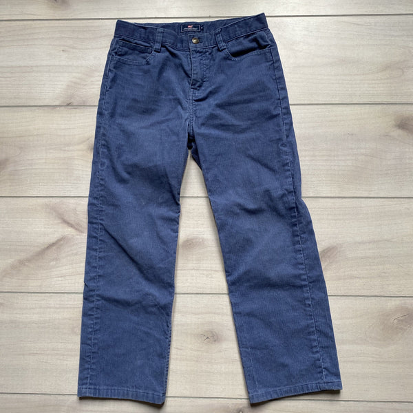 Vineyard Vines Blue Corduroy Interior Button Tab Elastic Waist Pants