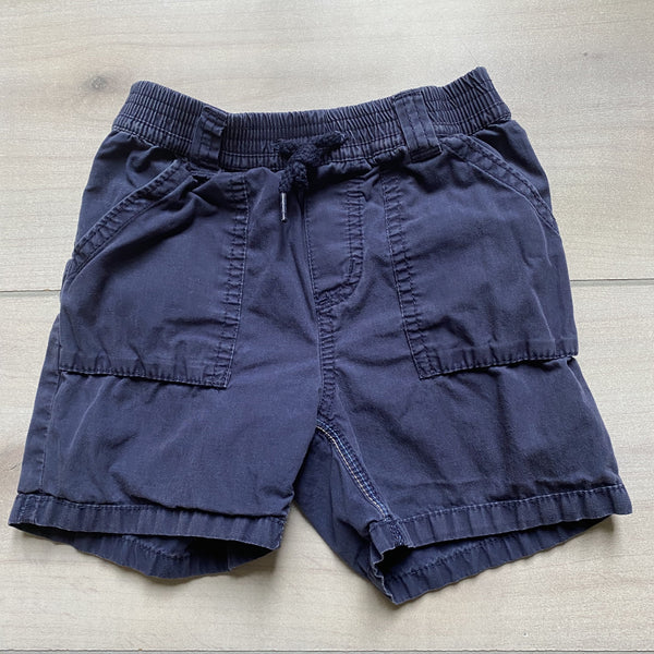Carter's Pull On Navy Elastic Waist Shorts - Sweet Pea & Teddy