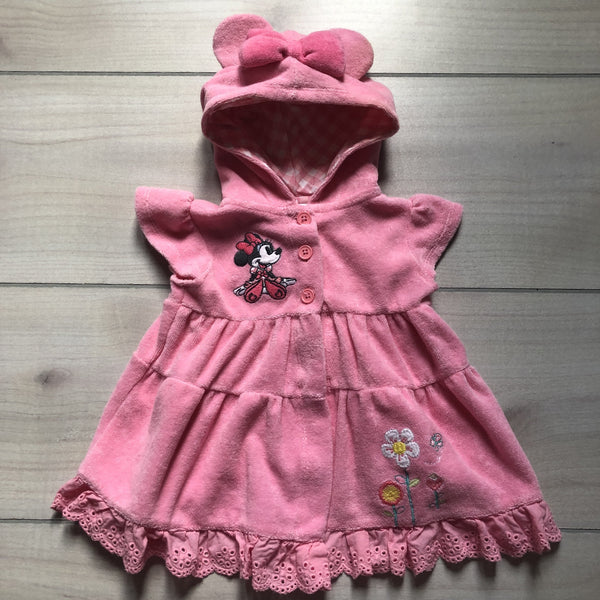 Disney Baby Pink Terry Hooded Swim Coverup