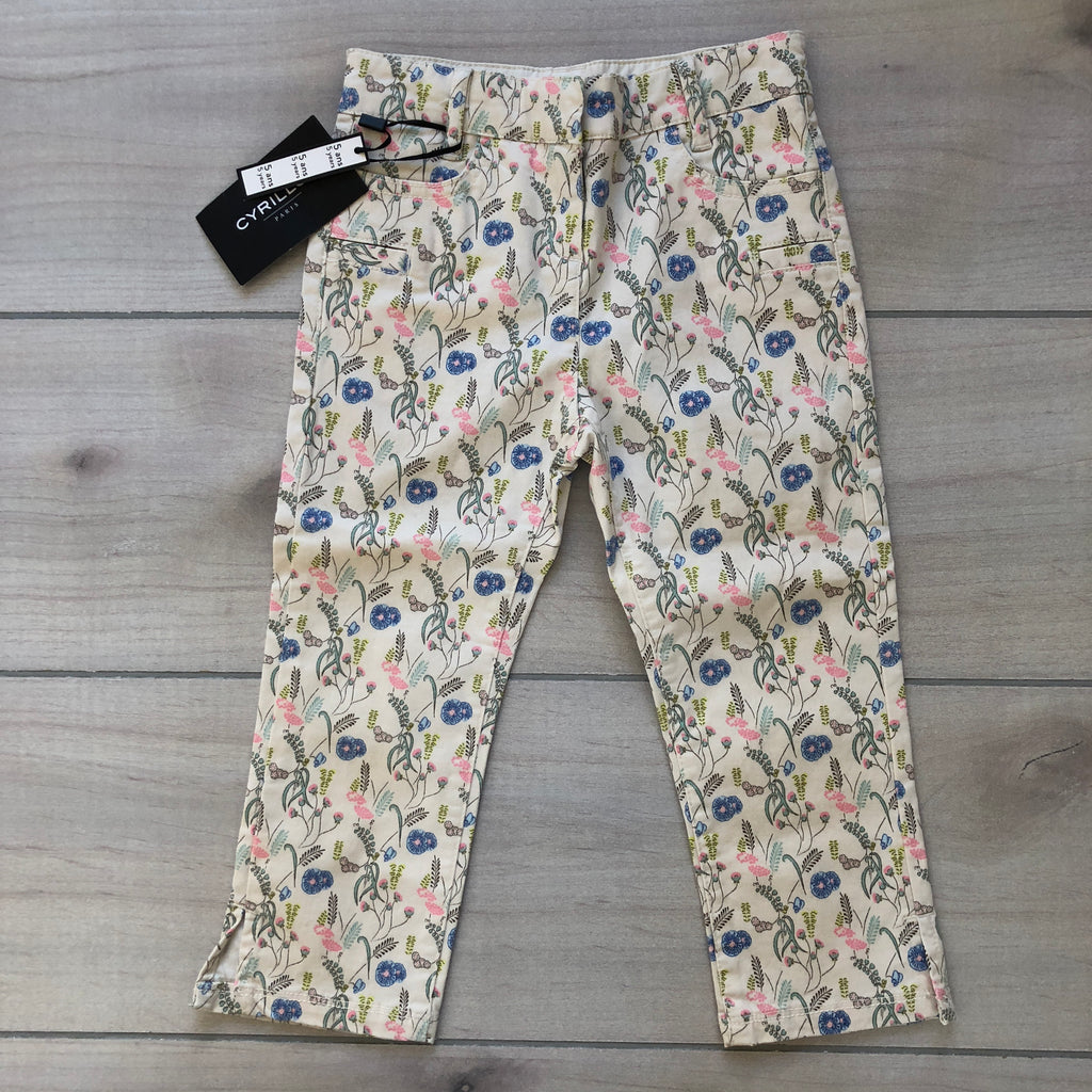 NEW Cyrillus Boutique Cream Floral Pants