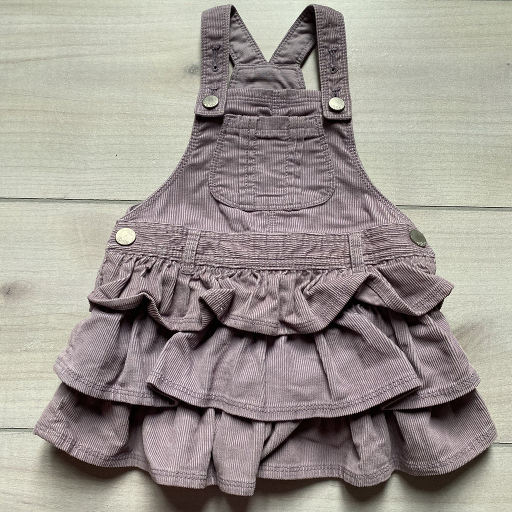 Baby Gap Purple Ruffle Corduroy Overall Dress - Sweet Pea & Teddy