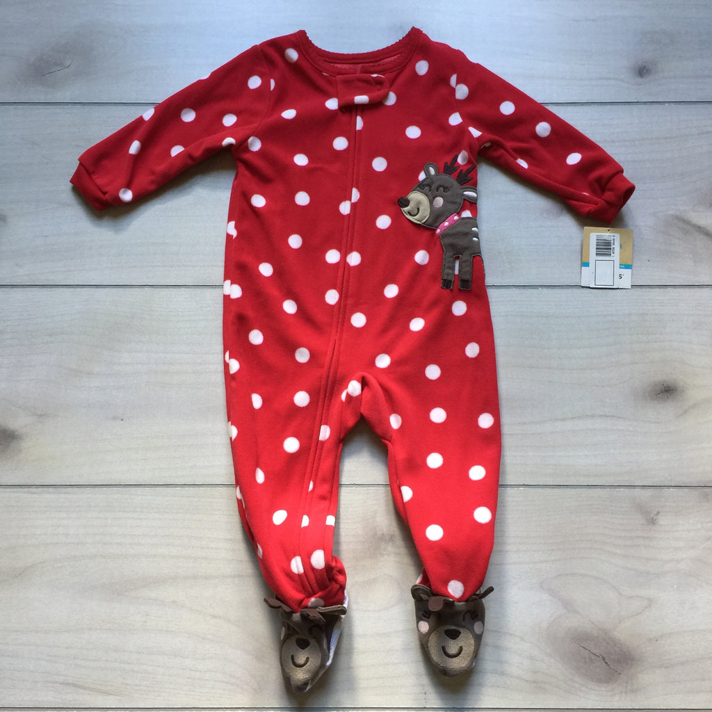 NEW Carter's Reindeer Footed Pajama Sleeper