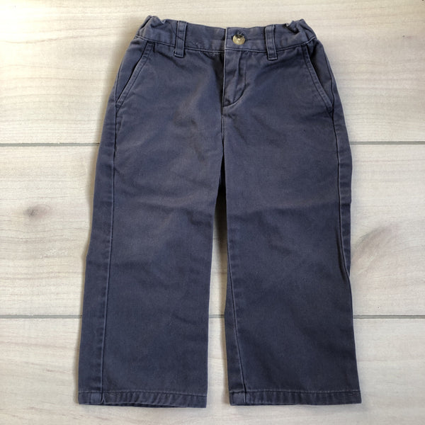Janie & Jack Blue Interior Button Tab Pants
