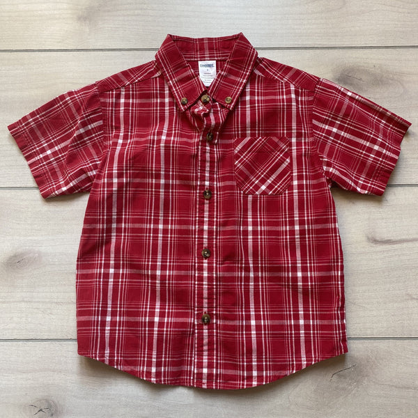 Gymboree Red Plaid Short Sleeve Button Down Shirt