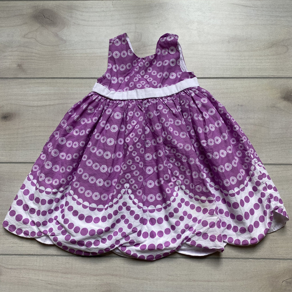 Gymboree Purple & White Dot Dress - Sweet Pea & Teddy