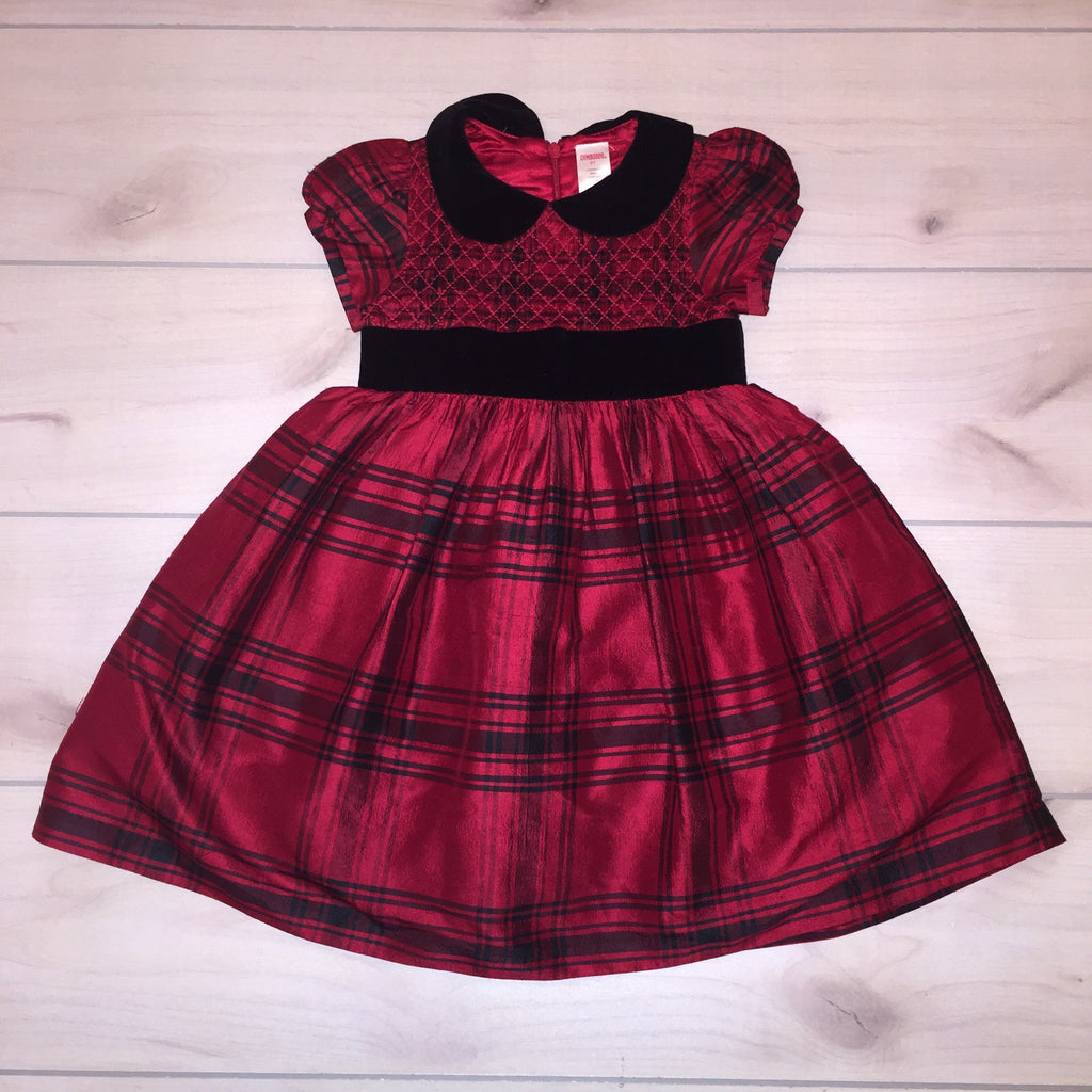 Gymboree Red Plaid Holiday Dress