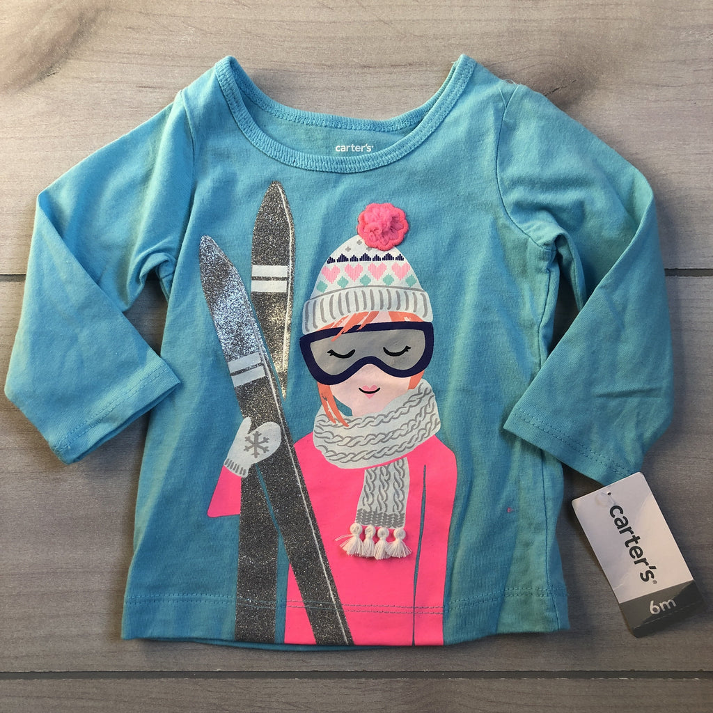 NEW Carter's Skier Shirt - Sweet Pea & Teddy