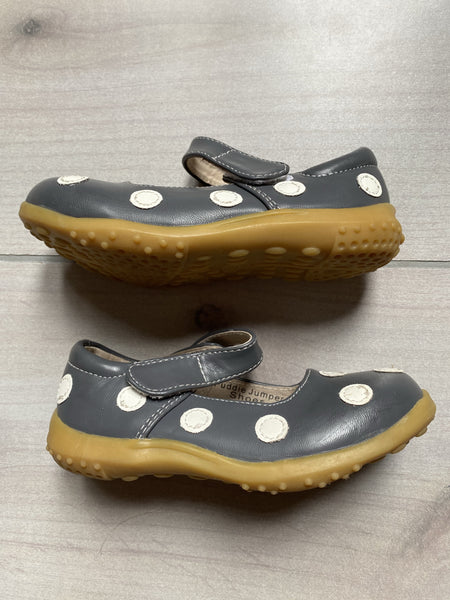PJ's Gray Polka Dot Velcro Shoes