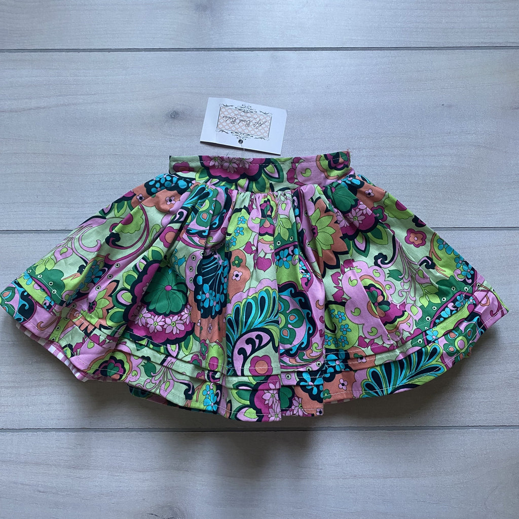 NEW Left Bank Babies Paisley Floral Skirt - Sweet Pea & Teddy