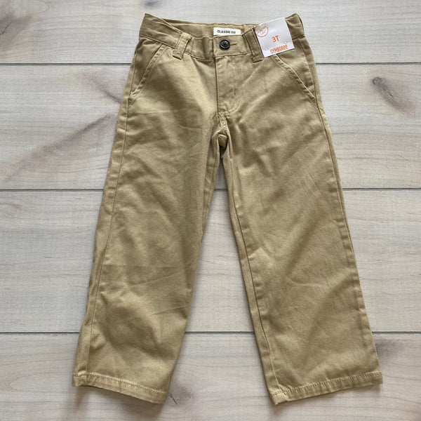 NEW Gymboree Khaki Interior Button Tab Classic Fit Khaki Pants