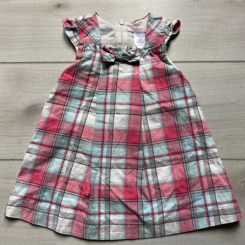 Janie & Jack Plaid Jumper Dress
