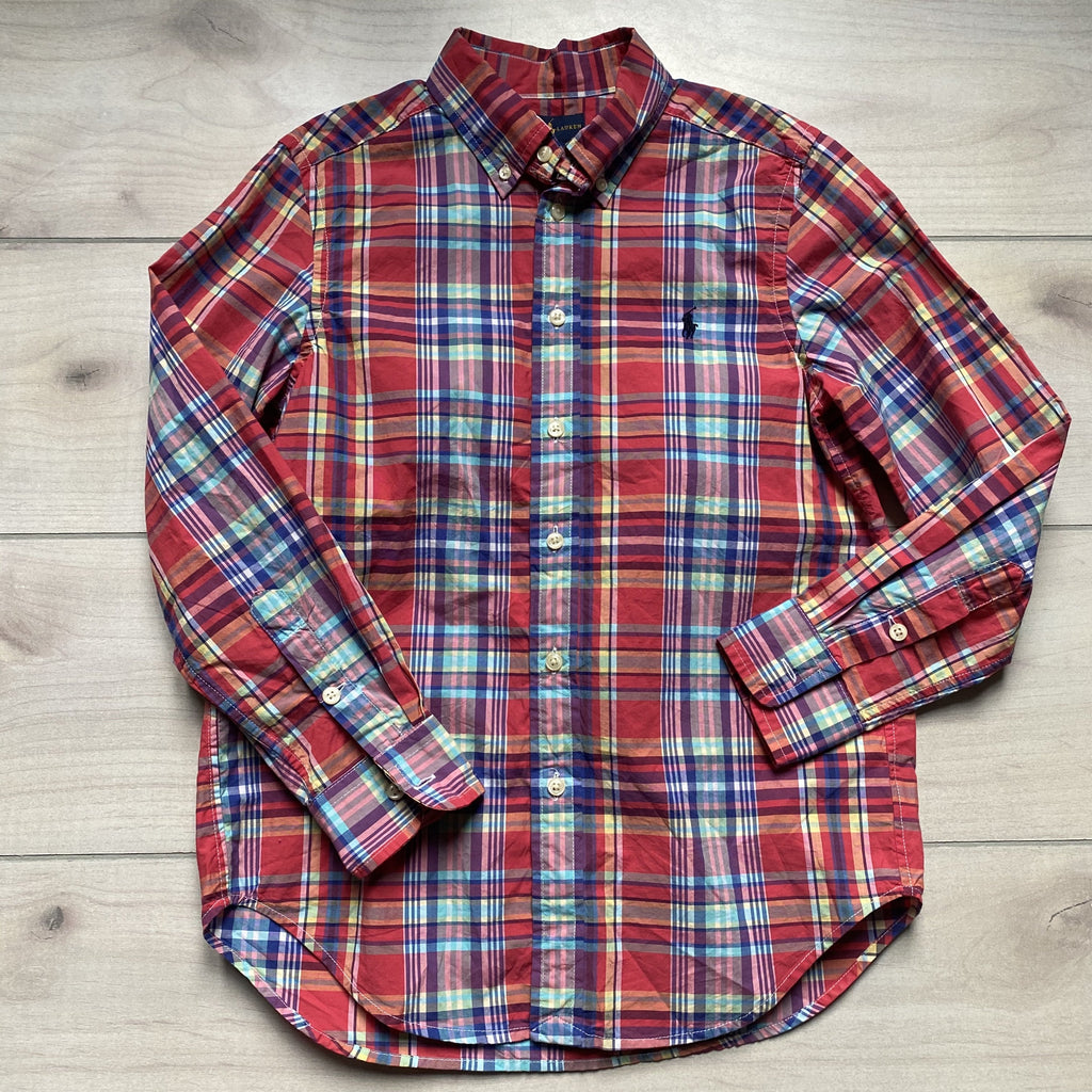 NEW Ralph Lauren Red Plaid Cotton Button Down Shirt - Sweet Pea & Teddy