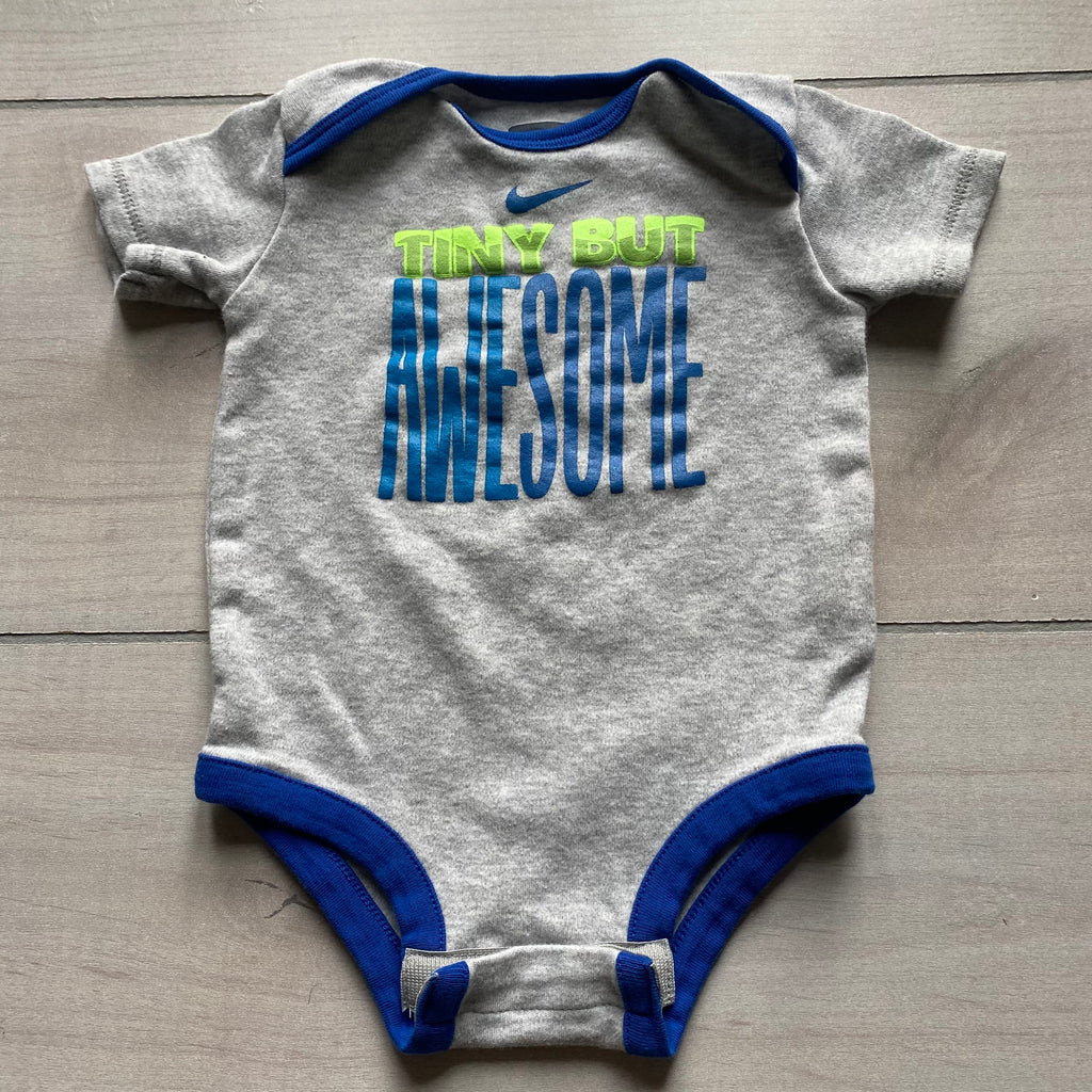 NIKE Tiny But Awesome Cotton Onesie Shirt