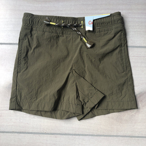 NEW Cat & Jack Army Green Nylon Elastic Waist Shorts