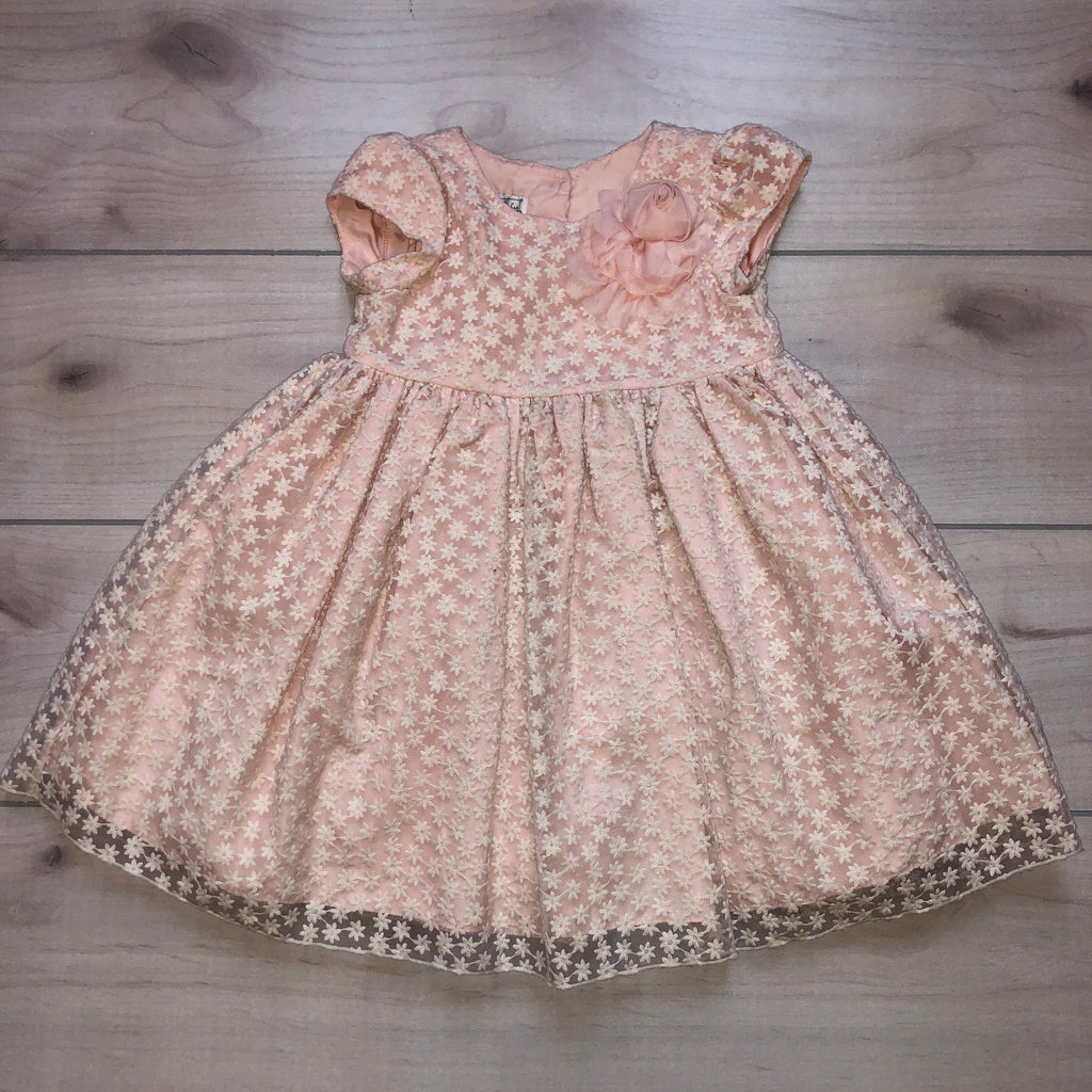 Pippa & Julie Blush Pink Daisy Dress