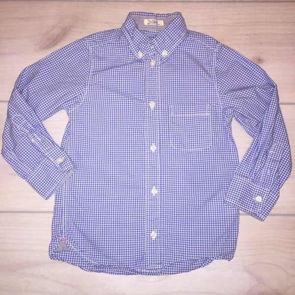 H&M Blue Checkered Button Down Shirt