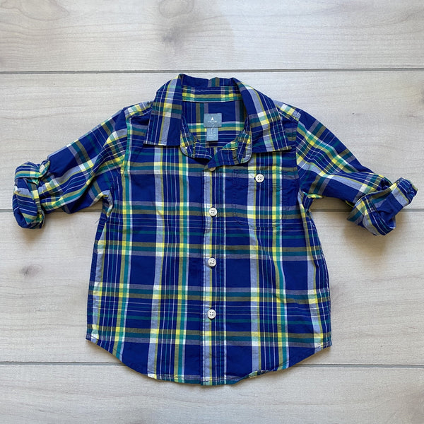 Baby Gap Blue & Yellow Button Down Shirt